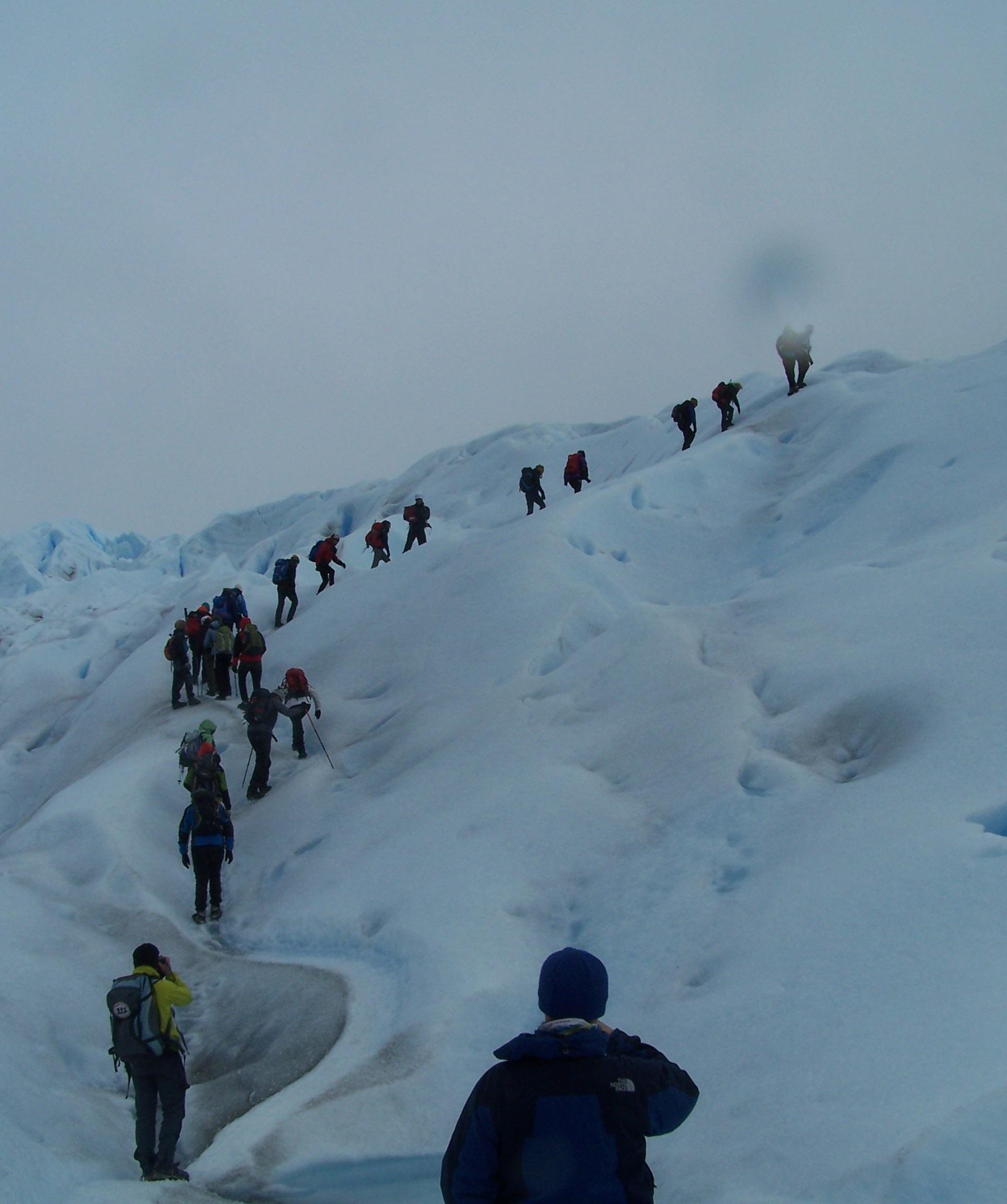 Antis outdoor ice trekking